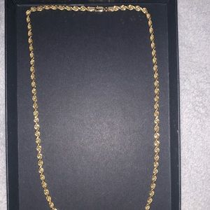14kt gold 4mm chain